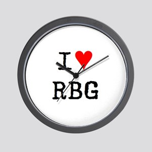 i love rbg Wall Clock