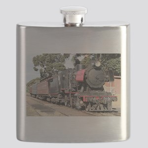 Goldfields steam locomotive, Victoria, Austr Flask