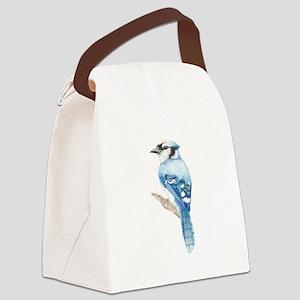 Watercolor Blue Jay Bird Nature Art Canvas Lunch B