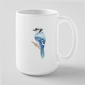 Watercolor Blue Jay Bird Nature Art Mugs