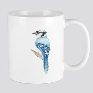 Watercolor Blue Jay Bird Nature Art Mugs