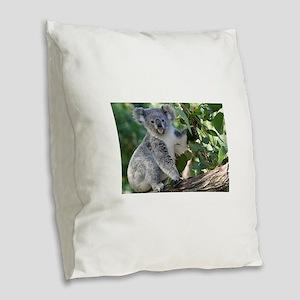 Cute koala Burlap Throw Pillow