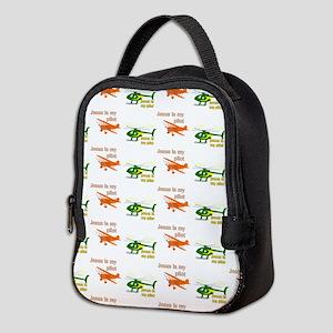 Jesus is my pilot 1-2 patterned Neoprene Lunch Bag