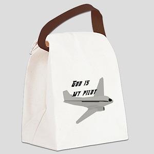 God is my pilot Canvas Lunch Bag
