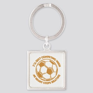 QUIT SOCCER Square Keychain