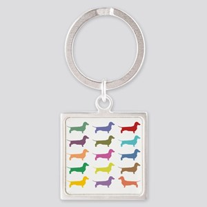 Colorful Dachshunds Keychains