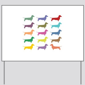 Colorful Dachshunds Yard Sign
