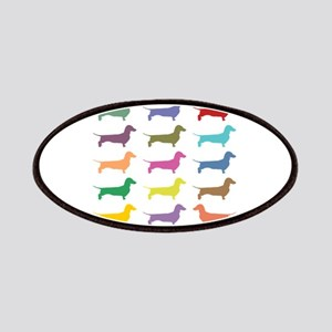 Colorful Dachshunds Patches