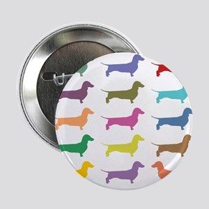 """Colorful Dachshunds 2.25"""" Button"""