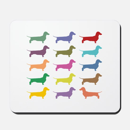 Colorful Dachshunds Mousepad