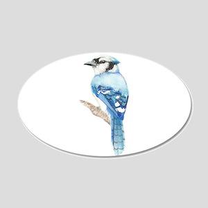 Watercolor Blue Jay Bird Nature Art Decal Wall Sti
