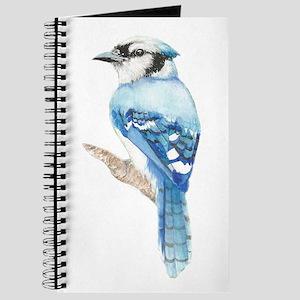 Watercolor Blue Jay Bird Nature Art Journal