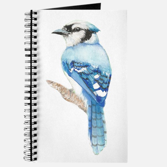 Watercolor Blue Jay Bird Nature Art Journal