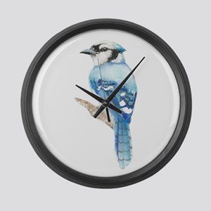 Watercolor Blue Jay Bird Nature Art Large Wall Clo