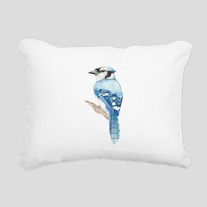 Watercolor Blue Jay Bird Nature Art Rectangular Ca