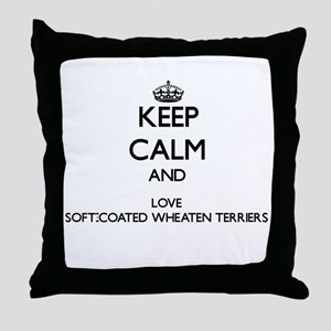 Keep calm and love Soft-Coated Wheate Throw Pillow