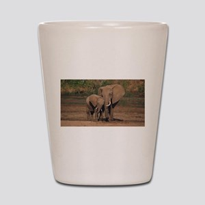 elephants Shot Glass