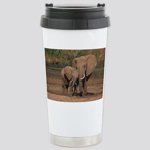 elephants Stainless Steel Travel Mug