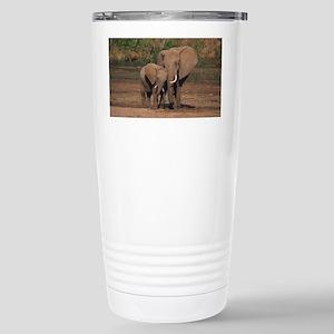 elephants Stainless Steel Travel Mug