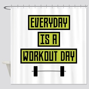 Everyday Workout Day C81fo Shower Curtain