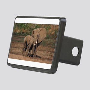 elephants Rectangular Hitch Cover