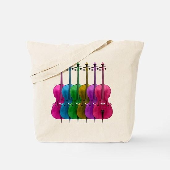 Colorful Cellos Tote Bag