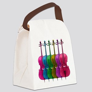 Colorful Cellos Canvas Lunch Bag