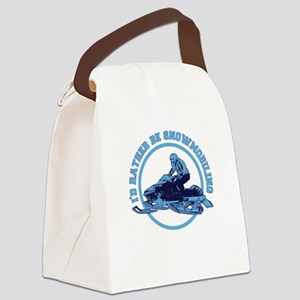 I'd Rather Be Snowmobiling Canvas Lunch Bag