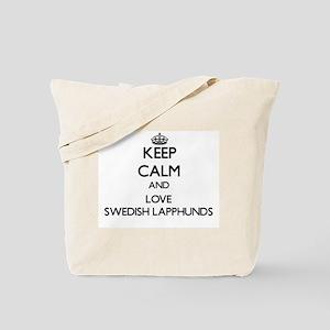 Keep calm and love Swedish Lapphunds Tote Bag