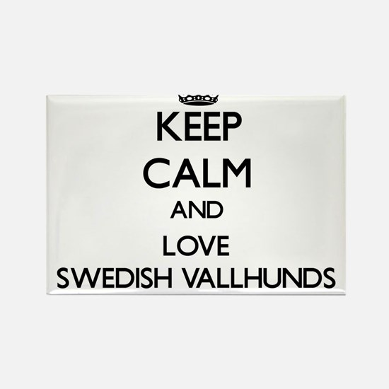 Keep calm and love Swedish Vallhunds Magnets