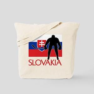 Slovakia Flag Hockey Tote Bag