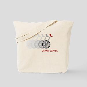 Unicycle Zoom Zoom Tote Bag