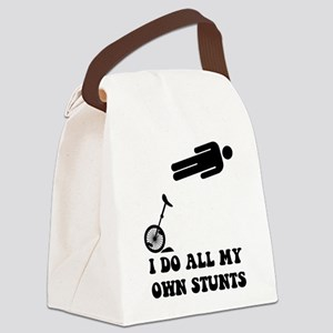 I do all my own stunts. Canvas Lunch Bag