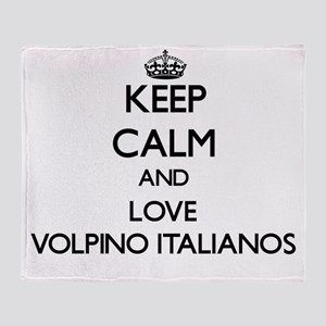 Keep calm and love Volpino Italianos Throw Blanket
