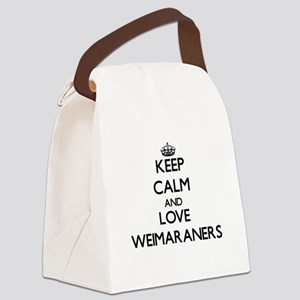 Keep calm and love Weimaraners Canvas Lunch Bag