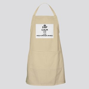 Keep calm and love Welsh Springer Spaniels Apron