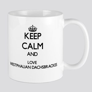 Keep calm and love Westphalian Dachsbrackes Mugs