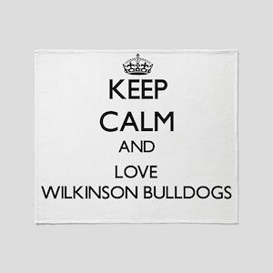 Keep calm and love Wilkinson Bulldog Throw Blanket