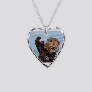 otter Necklace Heart Charm