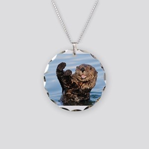 otter Necklace Circle Charm