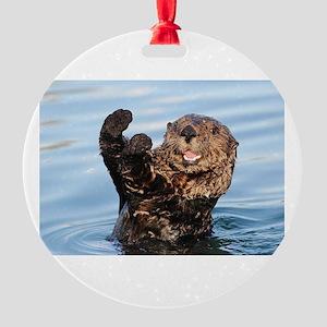 otter Round Ornament