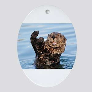 otter Ornament (Oval)