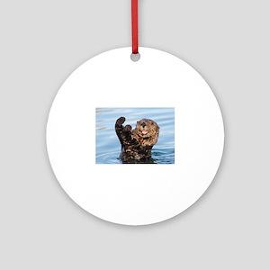 otter Ornament (Round)