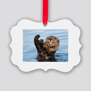 otter Picture Ornament