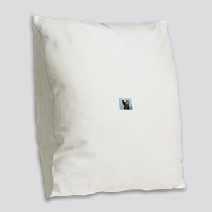 otter Burlap Throw Pillow
