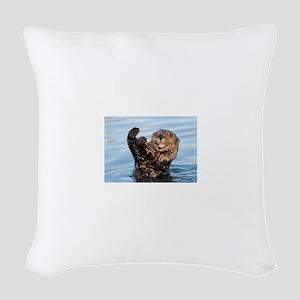 otter Woven Throw Pillow