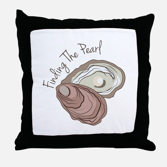 Find the Pearl Throw Pillow