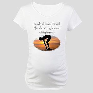 SWIMMER BLESSING Maternity T-Shirt