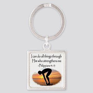 SWIMMER BLESSING Square Keychain