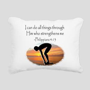 SWIMMER BLESSING Rectangular Canvas Pillow